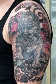 fu dog tattoos good all images to foo dog tattoo design with fu