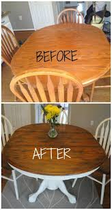 how to give your wood table a complete shabby chic makeover using