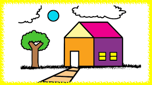 house colouring colors for children how to draw house colouring pages house for