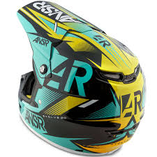 motocross racing helmets answer mx gear evolve 2 ar15 black teal motocross dirt bike