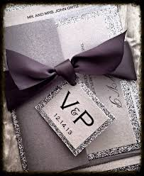 Invitation Card With Rsvp Silver Glitter Wedding Invitation Set With Rsvp And By Vpelegance