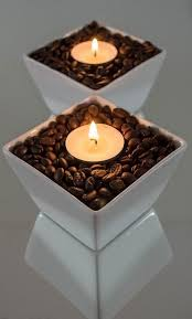 can you use tea light candles without holders fill shallow container with coffee beans and insert tea light use