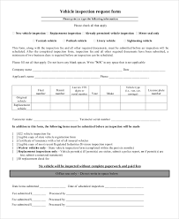 vehicle inspection report template sle vehicle inspection form 8 exles in word pdf