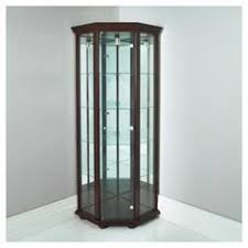 Antique Brass Display Cabinet Traditional Cherry Curio Display Cabinet 4 Glass Shelf 680420