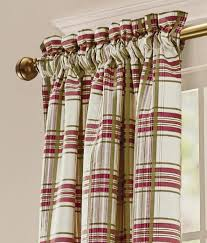 Country Plaid Valances Rod Pocket Curtains Drapes Greenwich Plaid Lined Curtains