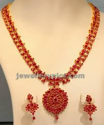kempu earrings ruby kempu chain with earrings jewellery designs