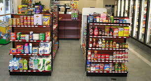 Black Gondola Shelving by Convenience Store Fixtures And Shelving