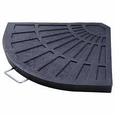 patio outdoor 2 piece cantilever offset umbrella base stand fan