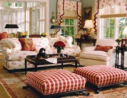 Country Ottomans Living Room Country Style Living Rooms Country