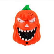 halloween led flashing sound pumpkin doorbell talking jack o