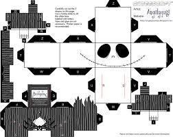 jack skeleton halloween jack skellington cubeecraft free papercraft toys