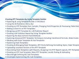 bi publisher training bi publisher oracle online trainings