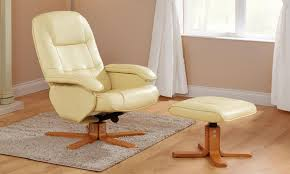 Swivel Reclining Armchair Stress Away Luxury Swivel Reclining Chair And Foot Stool From