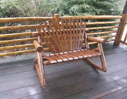 4 u0027 white cedar stained double rocker