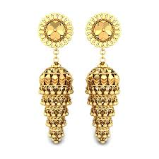 gold ear ring image yellow gold 22k saroj gold earring candere