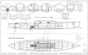 Catamaran Floor Plans by Robert H Perry Yacht Designers Inc