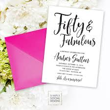 surprise 50th birthday invitation 60th 50th 40th 30th fifty and