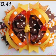 thanksgiving hair bows baby thanks giving turkey brown polka dot dress with