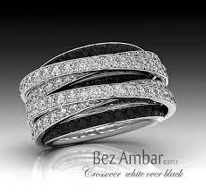 black diamond band pave diamond band black and white crossover