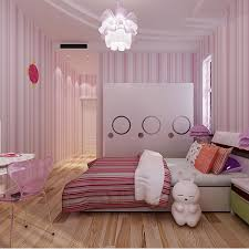 aliexpress com buy girls room pink and blue stripe wallpaper and