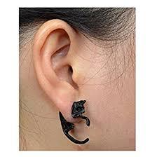 ear stud leopard cat puncture ear stud womens mens unisex