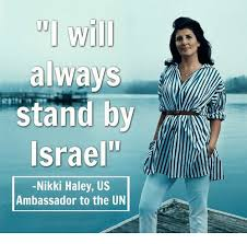Haley Meme - will always stand by israel nikki haley us ambassador to the un