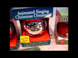 vintage animated singing christmas ornaments youtube