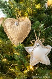 diy rustic burlap ornaments the crafting nook by