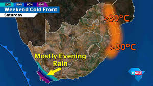 South Africa On Map by Big Cold Front Set To Chill Sa This Weekend
