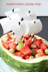 how to make a watermelon pirate ship watermelon pirate ships