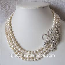 multi layer beaded necklace images Cream pearl twist necklace pearl necklaceand earrings sets loom jpg