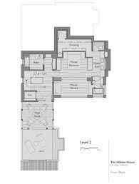 hillside floor plans floor plan level 2 hillside house california by sb architects