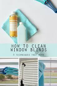 how to clean window blinds clean mama