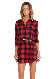 bb dakota suzett buffalo plaid dress in red revolve