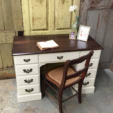 small vintage desk vintage writing desk white wooden desk painted furniture