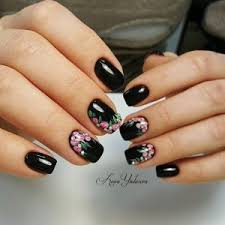 Black Manicure Designs Manicure With Black Nail Nail Designs Ideas Gallery