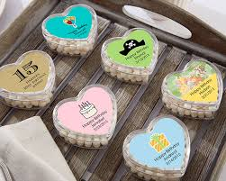 wedding favor containers heart shaped candy tin birthday party favors by kate aspen