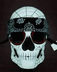 mardi gras skull mask of the dead skull mask bandana