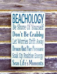 beach sign beachology unique beach theme home decor rustic wood