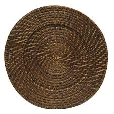 rattan charger plates round rattan brick brown 13 inch charger