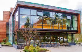 Building Exterior by Eagle Harbor Market Building Seattle Architects On Bainbridge