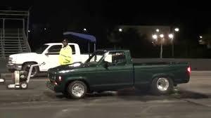 Ford Ranger Drag Truck - 1985 stroker ford ranger runs 12 04 on street tires youtube