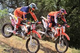 motocross bike setup dirt bike magazine ktm suspension shootout pds vs linkage
