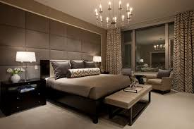 bedroom contemporary masculine bedroom with tufted headboard