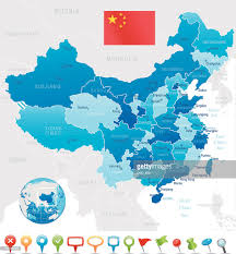 World Map Regions by China Map Regions Cities And Navigation Icons Vector Art Getty