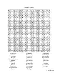 super scientists word search 6th 8th grade worksheet lesson planet
