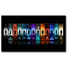 Dr Who Home Decor Online Shop Art Story Doctor Who 12 Doctors Art Silk Poster Print