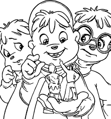 alvin and the chipmunks coloring pages from alvin and the