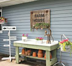 Merry Garden Potting Bench by Organized Clutter My 2017 Junk Garden Potting Bench
