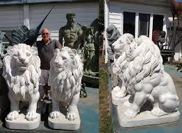 marble lions for sale bronze lions